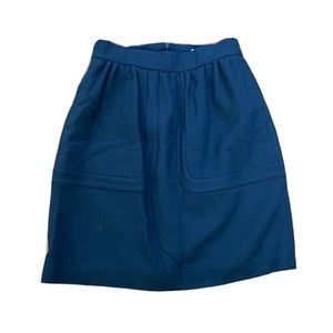 Orla Kiely Black A-Line Skirt-Pockets, Lined, Sz 8